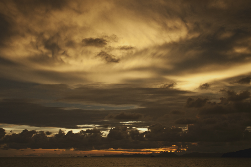Sunset in Ao Nang, Krabi province, Thailand