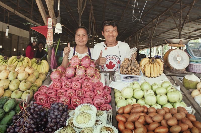 Fruit market in Ao Nang, Krabi, Thailand