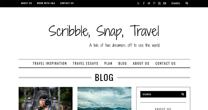 Scribble, Snap, Travel blog