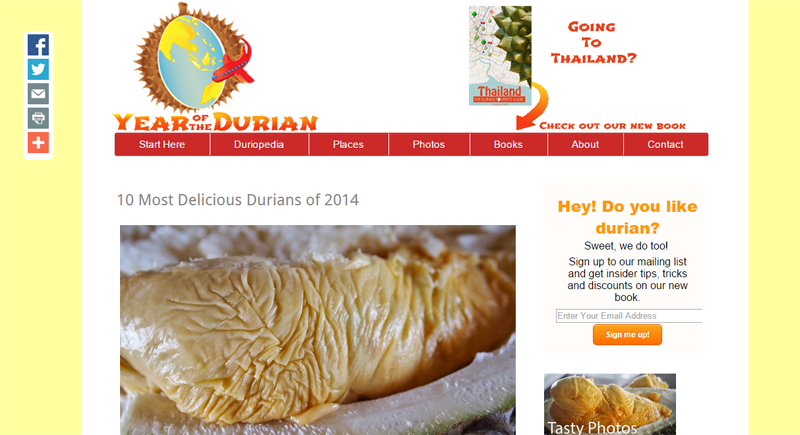 Year of the durian blog by Rob and Lindsay