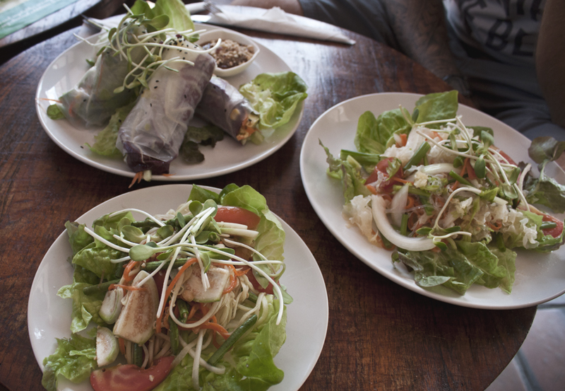 Vegetarian food from Bubbles Life Cafe in Chiang Mai, Thailand