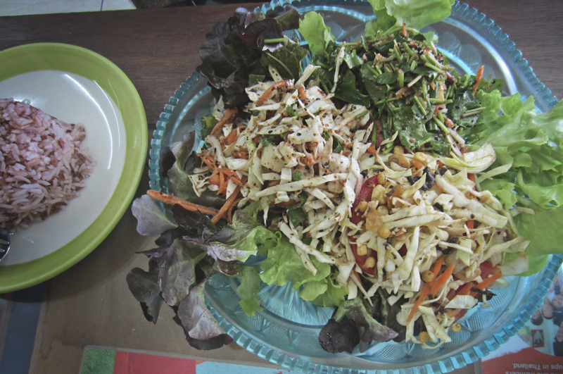 Vegan Burmese Salads from Free Bird Cafe in Chiang Mai, Thailand