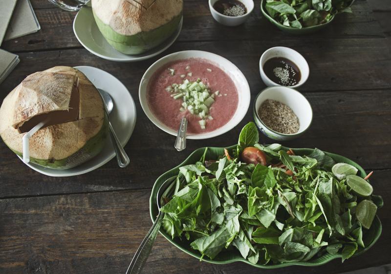 Raw Vegan Salad at Happy Green Vegetarian Restaurant in Chiang Mai, Thailand