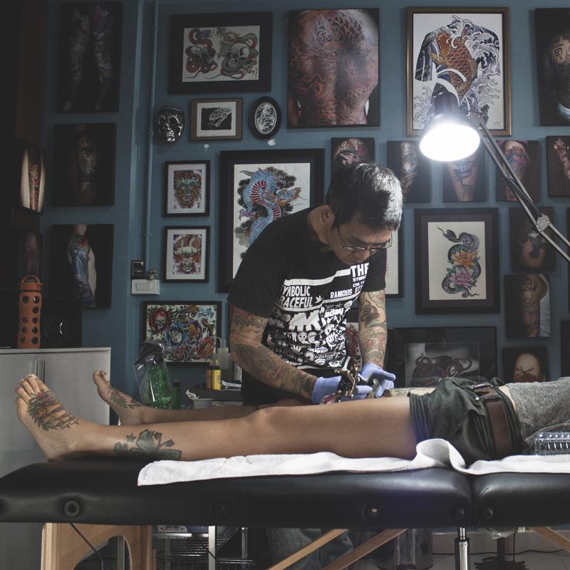 Modzilla Tattoo, Tattoo by Mod, Chiang Mai, Thailand