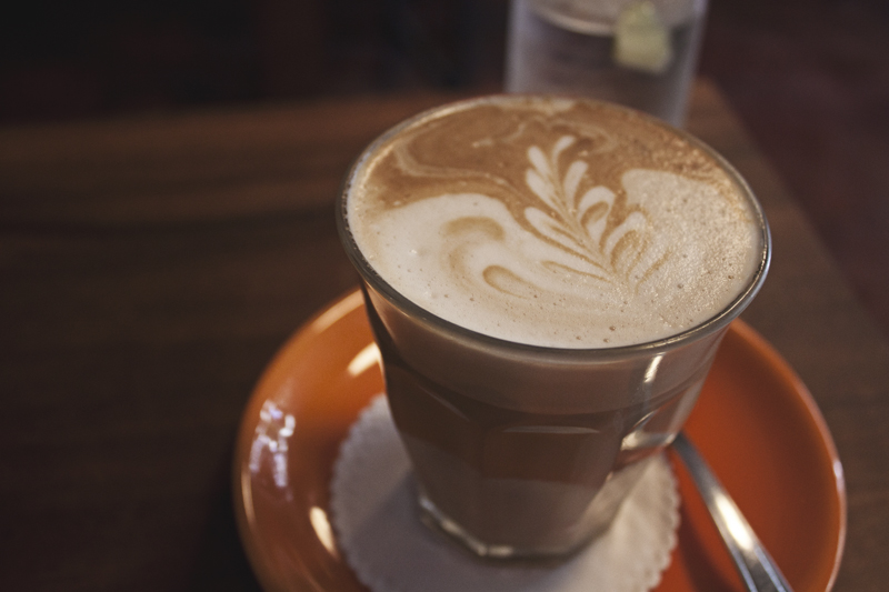 Soy latte at Overstand, Chiang Mai, Thailand