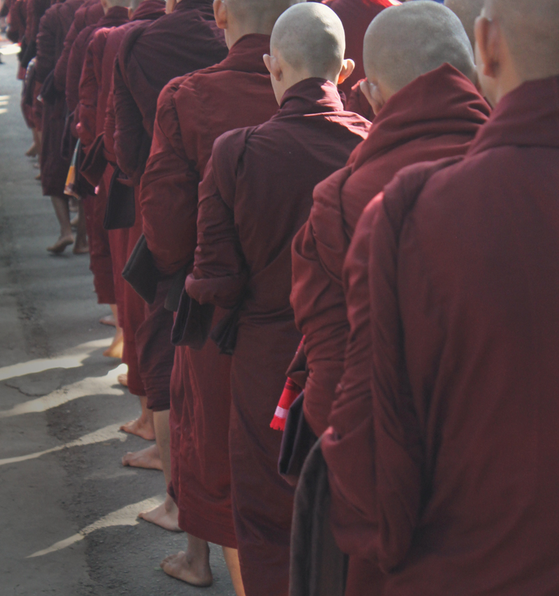 Monks in Mandalay, Myanmar (Burma)