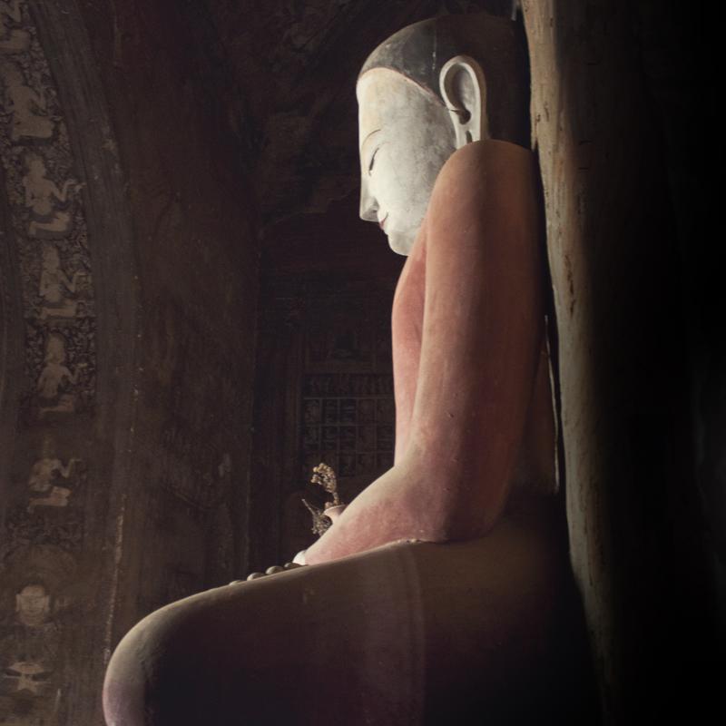 Buddha statue in a temple in Bagan, Myanmar (Burma)