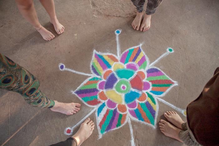 Mandala. Review on yoga teacher training at Smriti Yoga in Goa, India