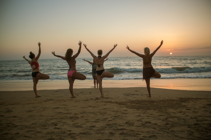 Agonda Beach. Yoga Teacher training at Smriti Yoga in Goa, India