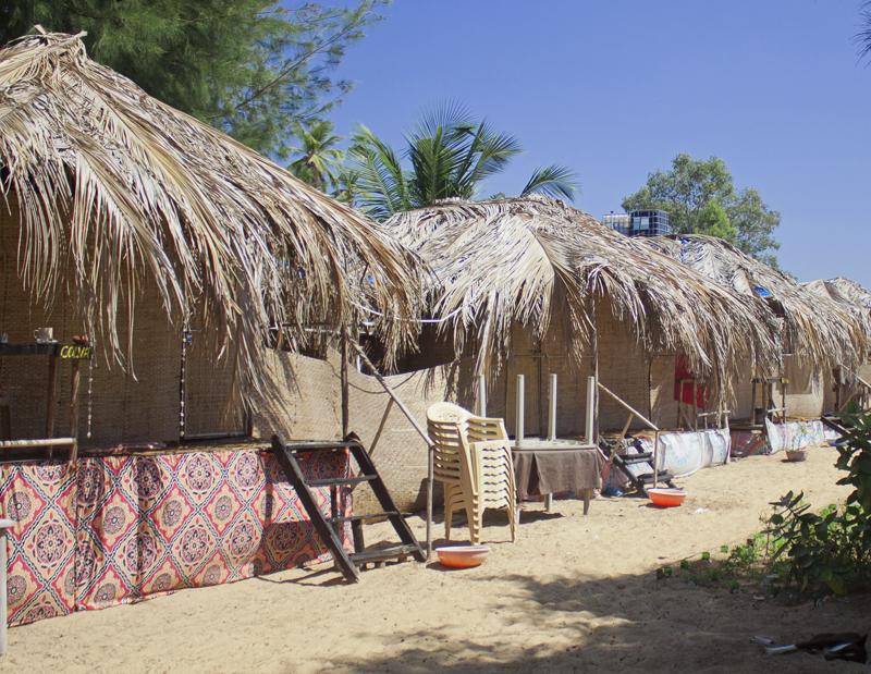 Lotus Oasis bungalows in Patnem, Goa, India.