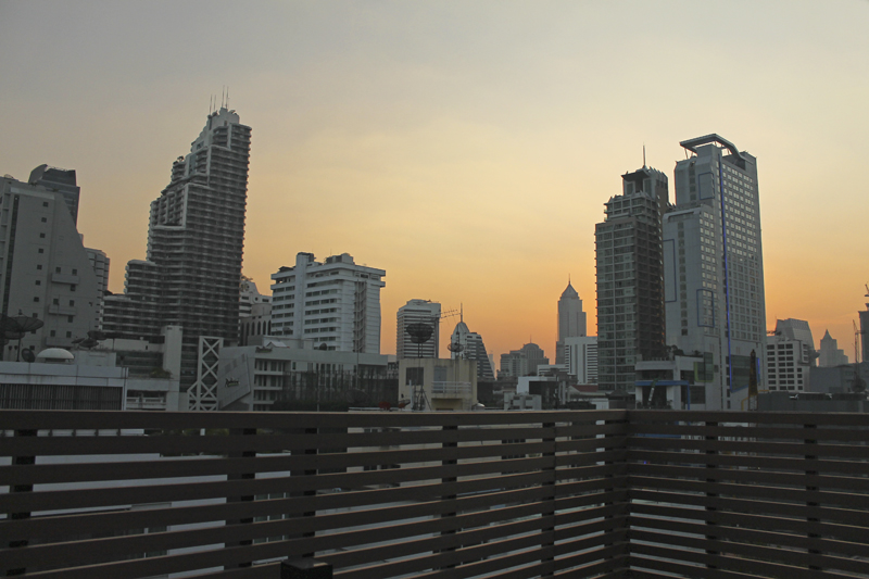 Skyline from the  rooftop at the U Sukhumvit Bangkok. Review, blog post, article, where to stay in Thailand