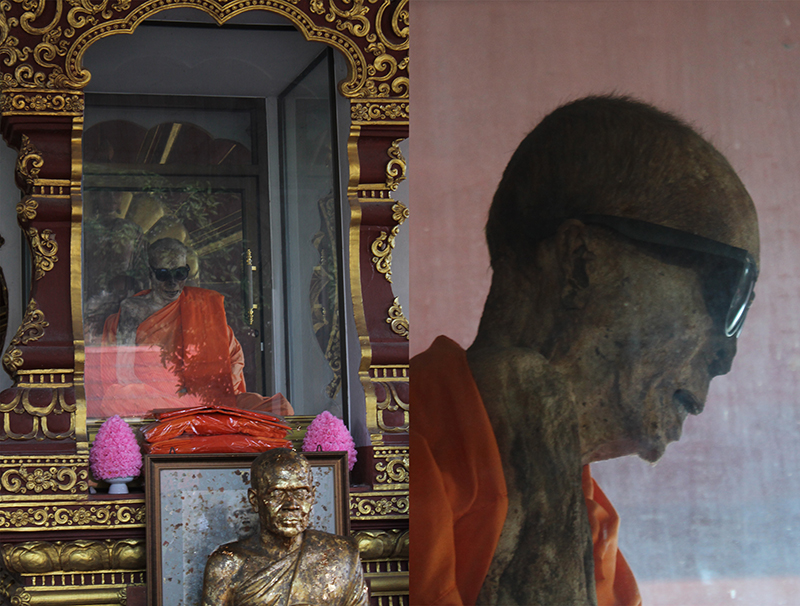 mummified monk at Wat Khunaram in Koh Samui, Thailand