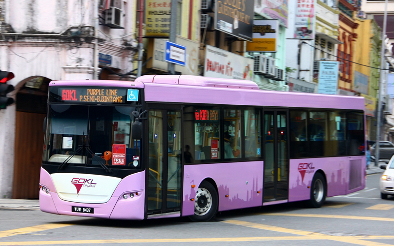 GO KL, free bus system in Kuala Lumpur.