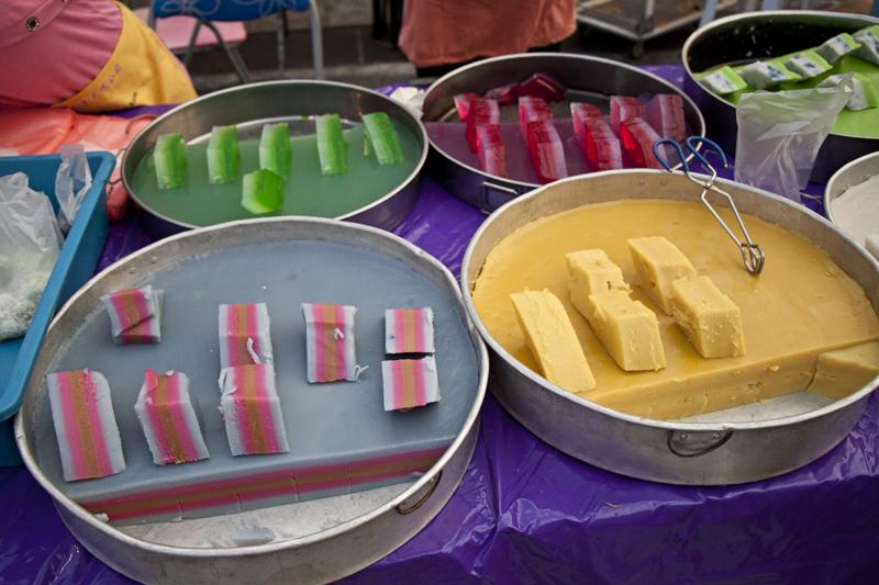 nonya kuehs, traditional malaysia sweet.
