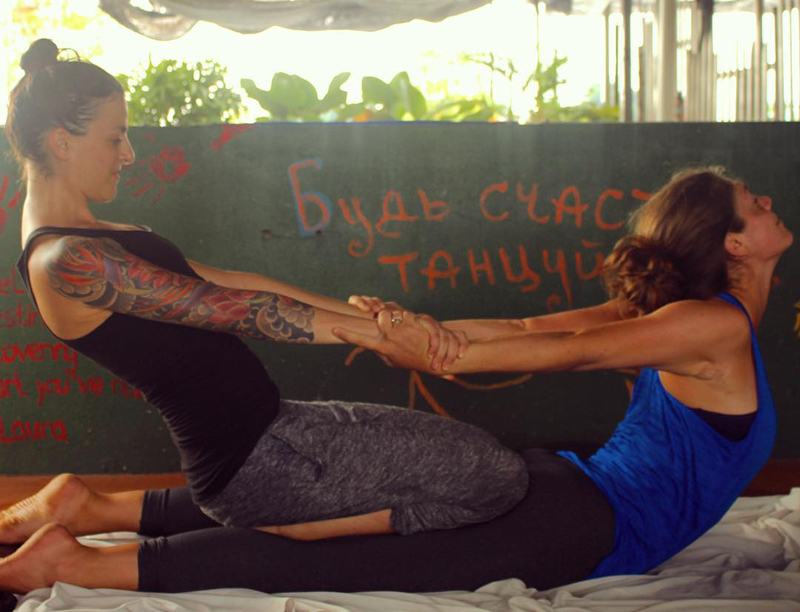 volunteering at a guesthouse in Malacca, Malaysia. Thai massage by donation