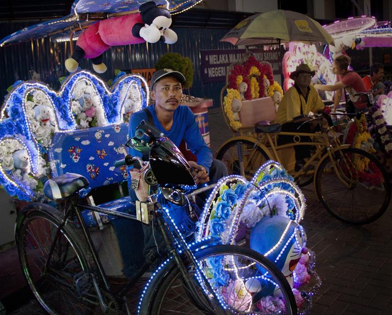 Rickshaw in Malacca, Malaysia