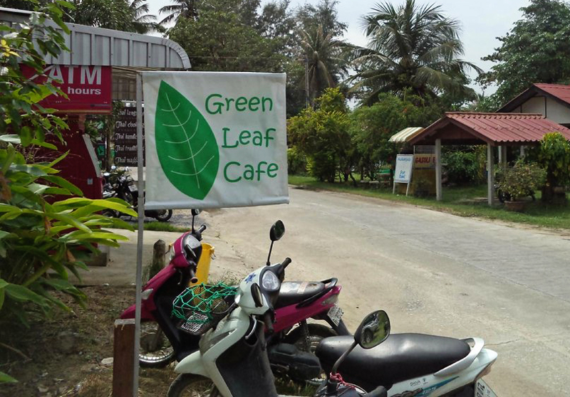 Vegan food guide of Koh Phangan, Thailand. Green Leaf Cafe.