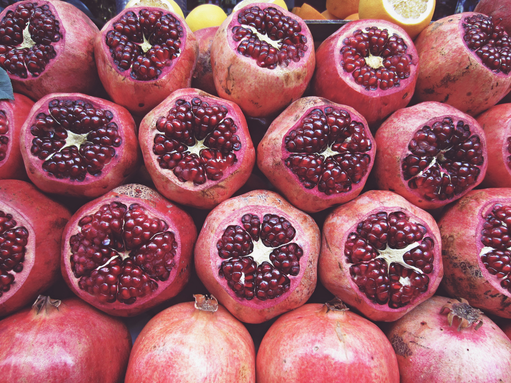 Pomegranates, Istanbul, Turkey