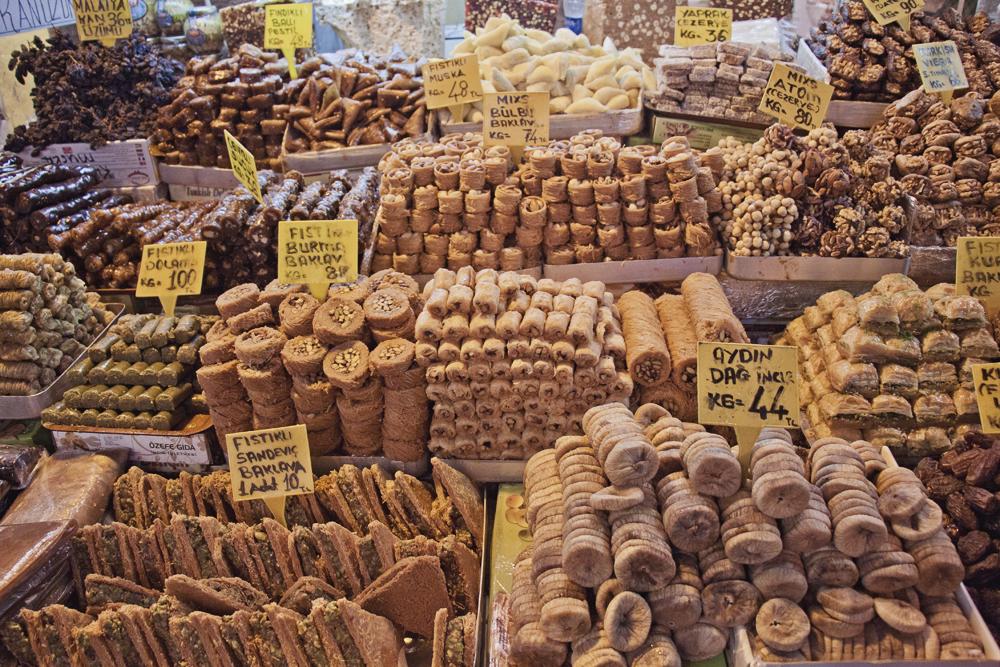 Baklava, Spice Bazaar, Istanbul, Turkey