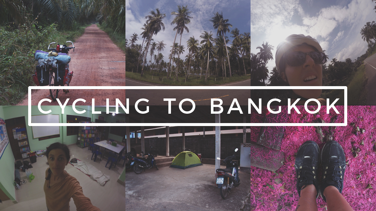 Bicycle touring in Thailand, from Koh Phangan to Bangkok