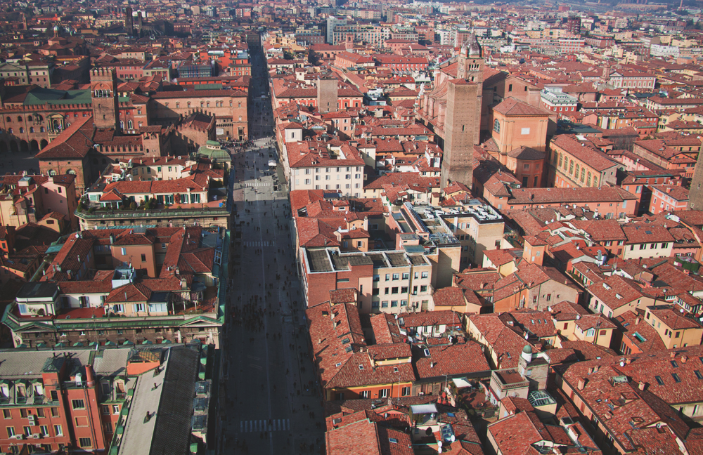 bologna view from asinelli tower