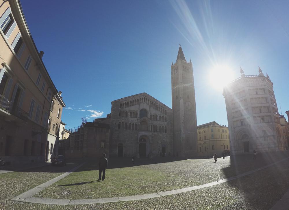 The Piazza del Duomo, Parma