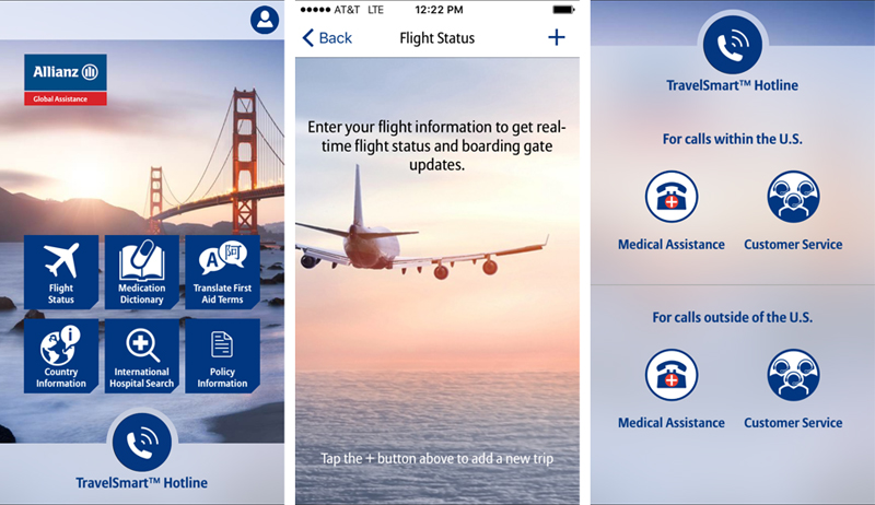 TravelSmart mobile app for iPhone and Android