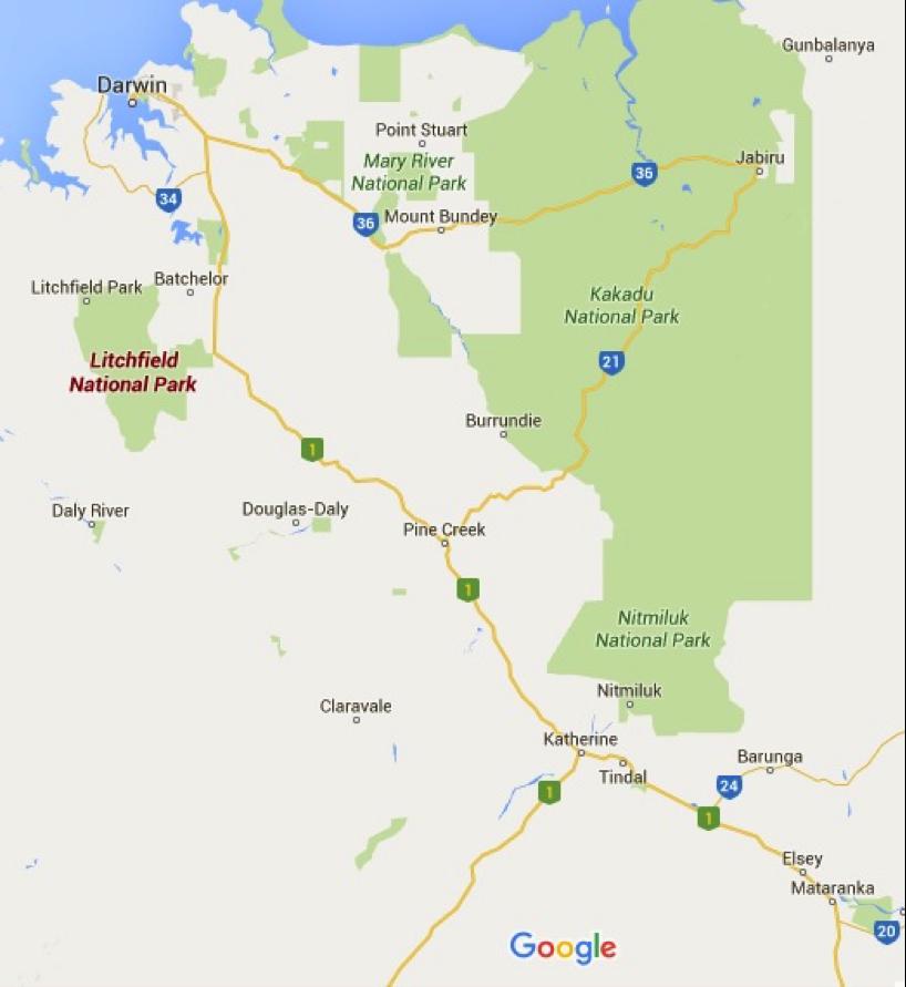 Litchfield National Park Photo Credit: Google Maps